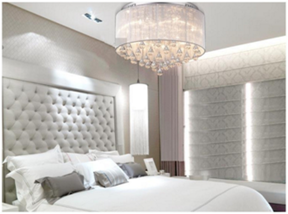 Пример освещения в спальне