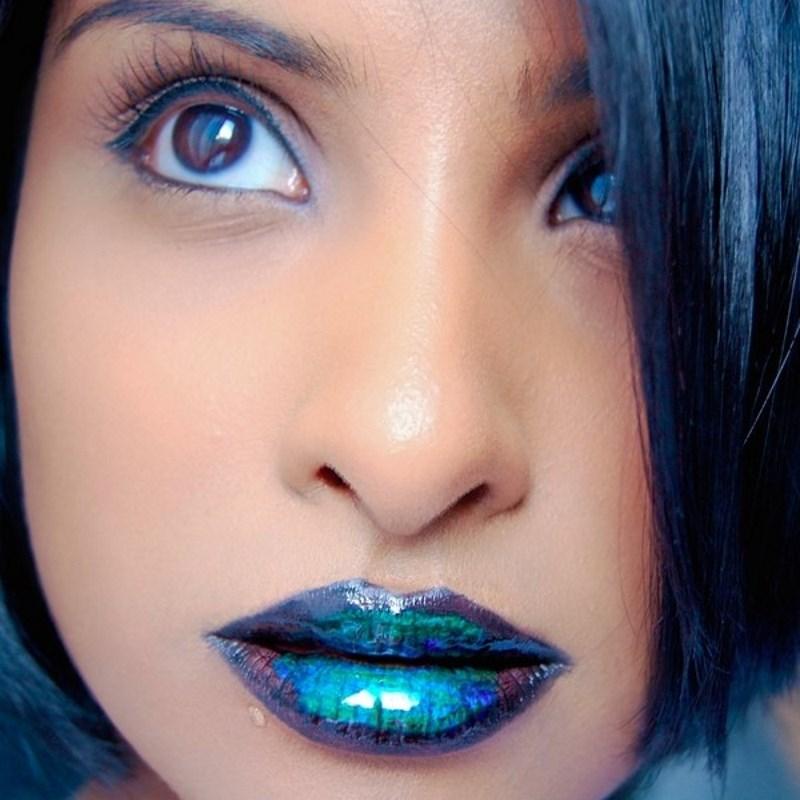 Синие губы картинки