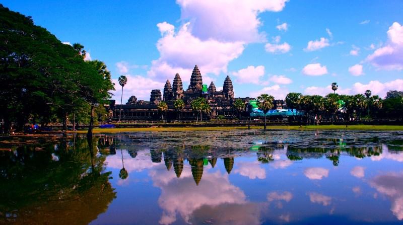 Красивый пейзаж Камбоджи