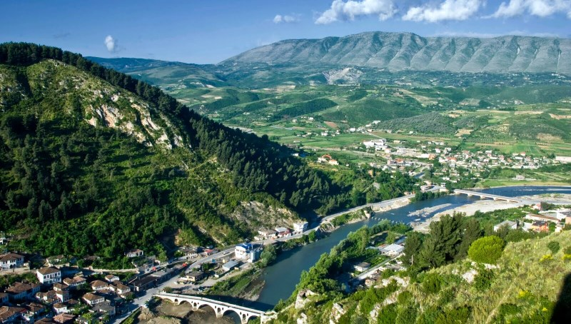 Красивый пейзаж Албании