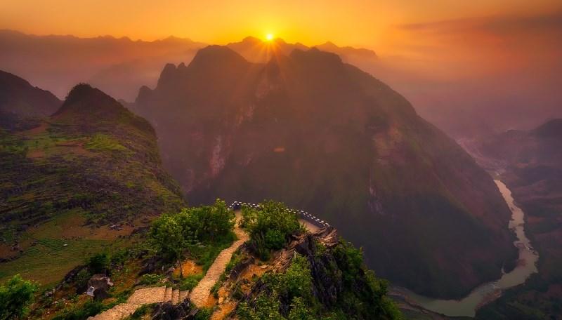 Красивый пейзаж Вьетнама