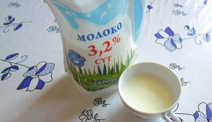 Молоко из пакетов