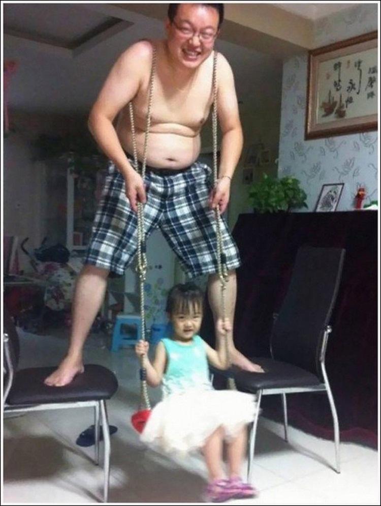 hijos al cuidado de papá
