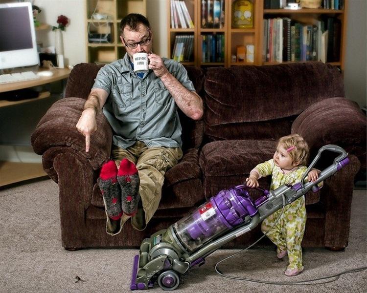 Папа с ребенком смешные картинки