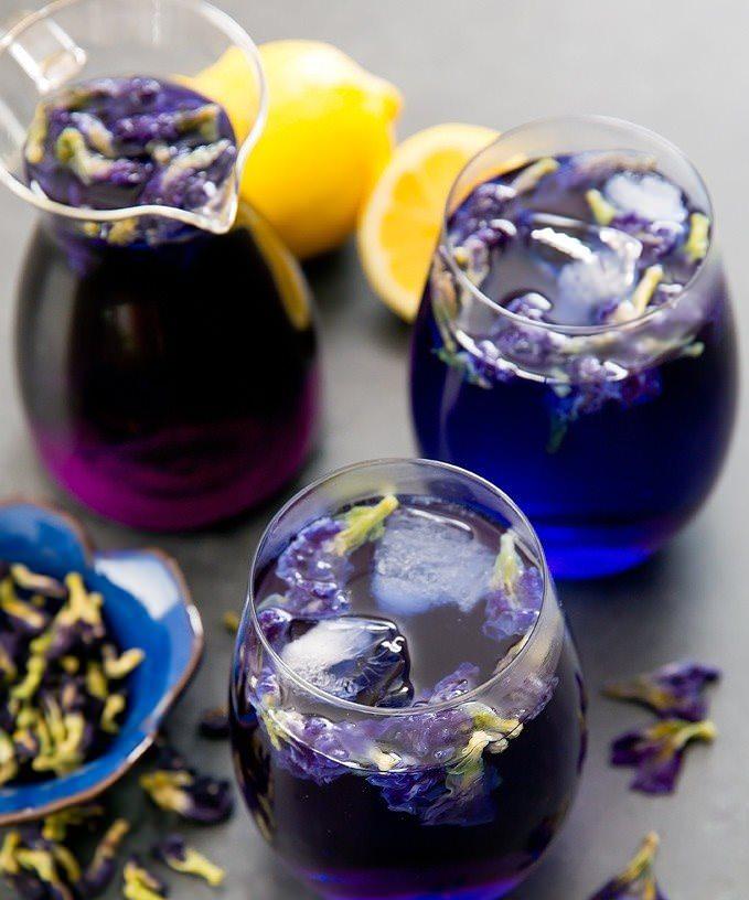 Пурпурный чай с лимоном
